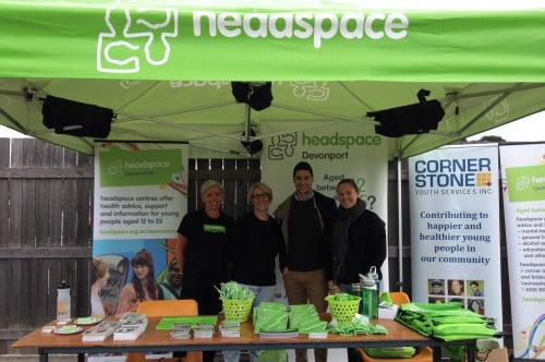 Alison Filgate, Kim Gawne, Simon Hogan and Claire Stucas from headspace. Photo courtesy of Alison Filgate