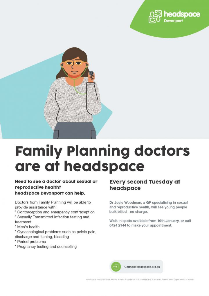 Family Planning doctors available at headspace Devonport